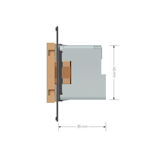 Модуль розетки электрической ZigBee (Wi-Fi) с заземлением защитными шторками 16A Livolo - 2