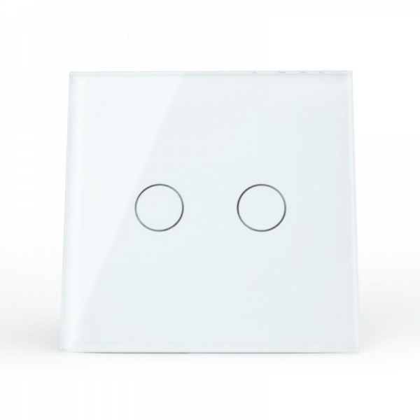 Выключатель проходной двухлинейный с функцией ДУ (белый) - 1