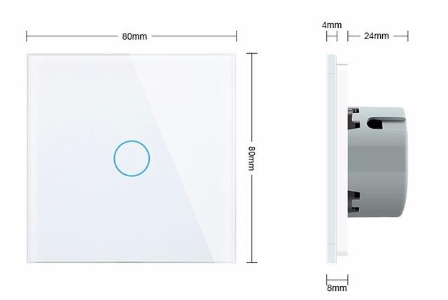 WiFi Сенсорный однолинейный проходной выключатель Livolo ZigBee (белый) - 2