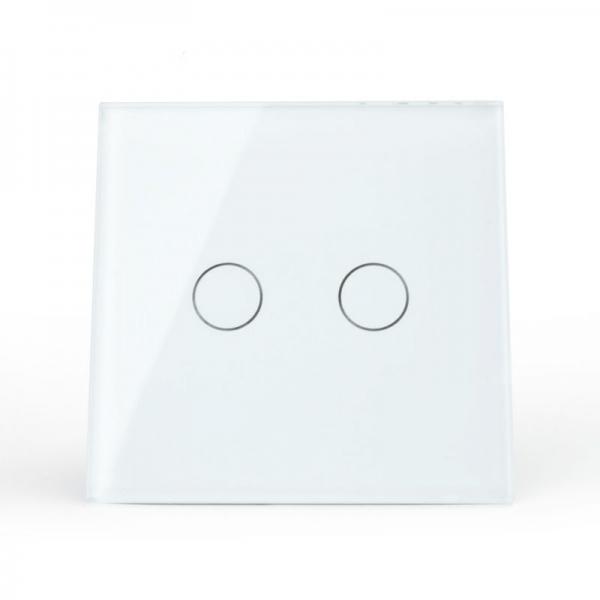 Выключатель проходной двухлинейный (белый) - 1