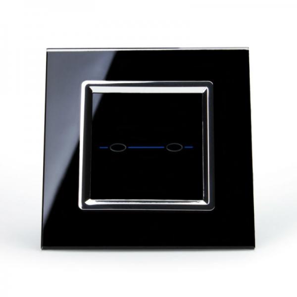 Выключатель проходной двухлинейный (черный) - 1