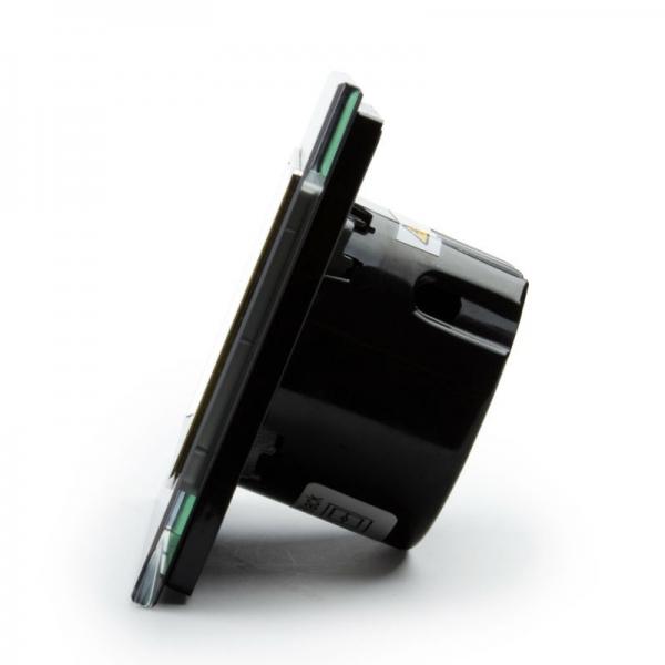 Выключатель проходной двухлинейный (черный) - 3