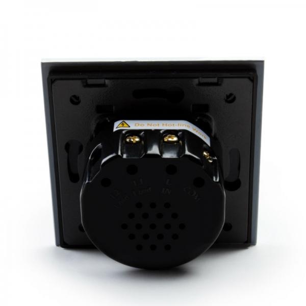 Выключатель проходной двухлинейный (черный) - 4