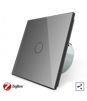 WiFi Сенсорный однолинейный проходной выключатель Livolo ZigBee (серый) - 2