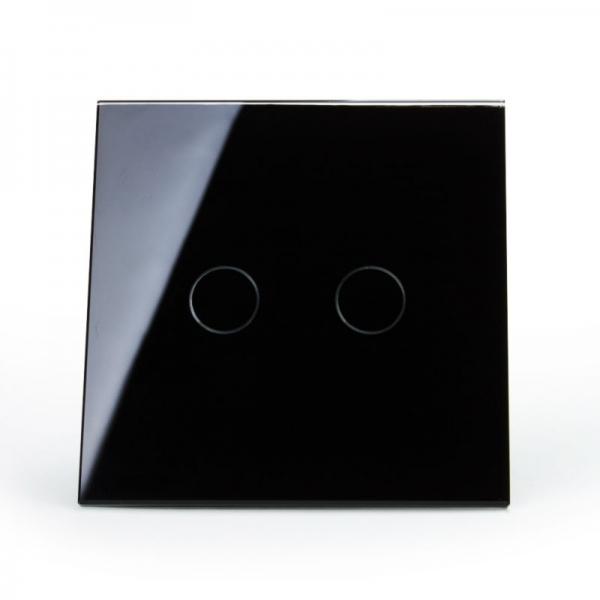 Выключатель импульсный двухлинейный с функцией ДУ (черный) - 1