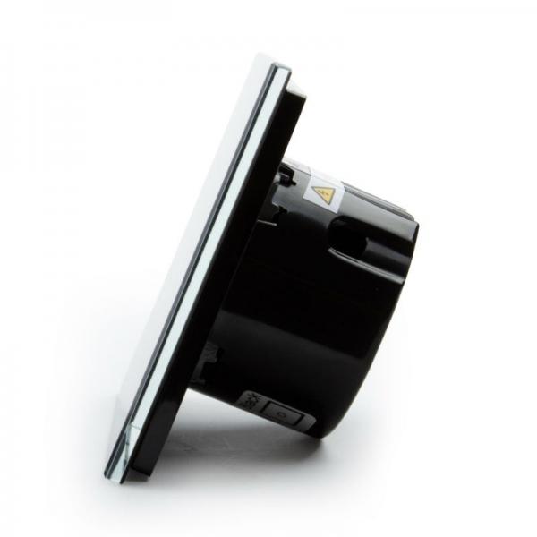 Выключатель импульсный двухлинейный с функцией ДУ (черный) - 3