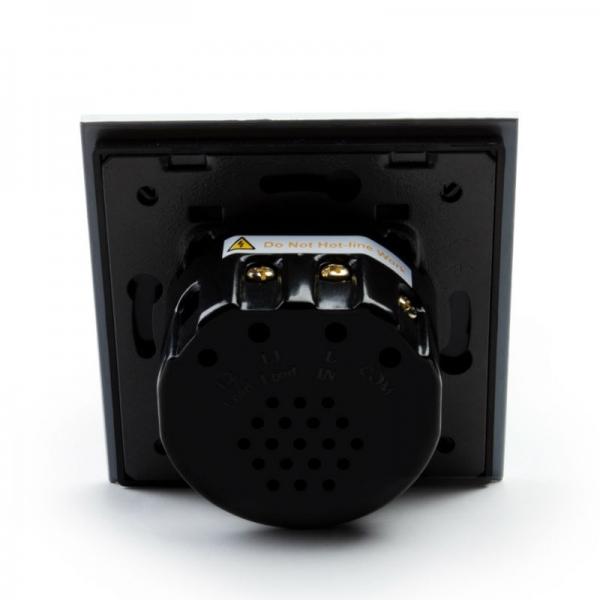 Выключатель импульсный двухлинейный с функцией ДУ (черный) - 4