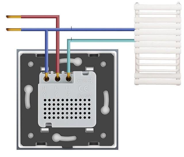 Терморегулятор  теплого пола черный - 2