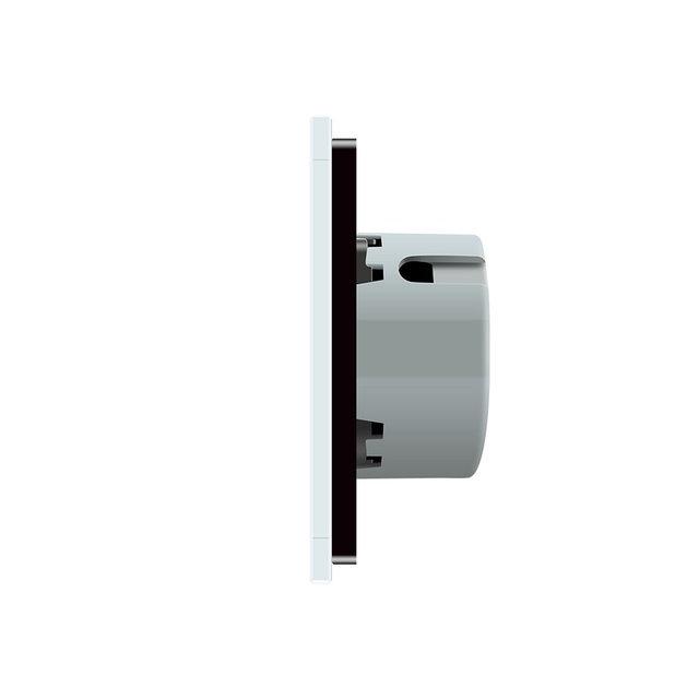 Выключатель проходной двухлинейный (черный) - 2