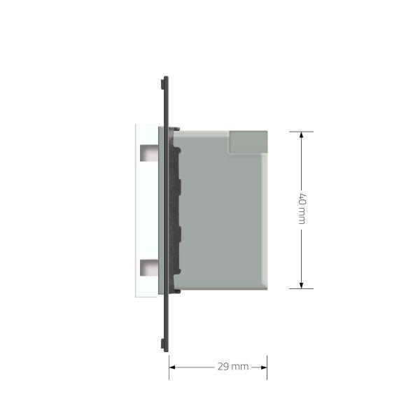 Терморегулятор  теплого пола черный с выносным датчиком температуры - 2
