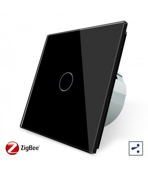 WiFi Сенсорный однолинейный проходной выключатель Livolo ZigBee (черный) - 2