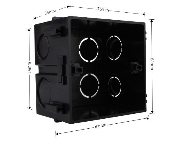 Монтажная коробка квадратная  - 1