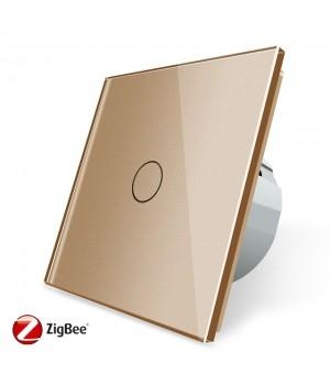 WiFi Сенсорный однолинейный выключатель Livolo ZigBee (золото) - 2
