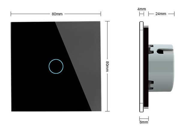 WiFi Сенсорный однолинейный выключатель Livolo ZigBee черный  - 1