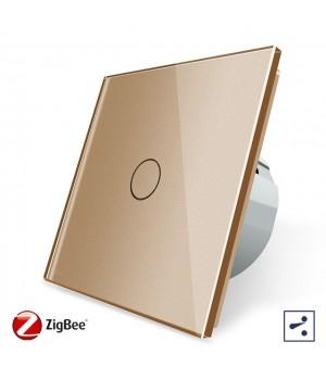 WiFi Сенсорный однолинейный проходной выключатель Livolo ZigBee (золото) - 2