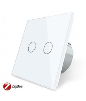 Сенсорный двухлинейный выключатель Livolo ZigBee (белый ) - 1