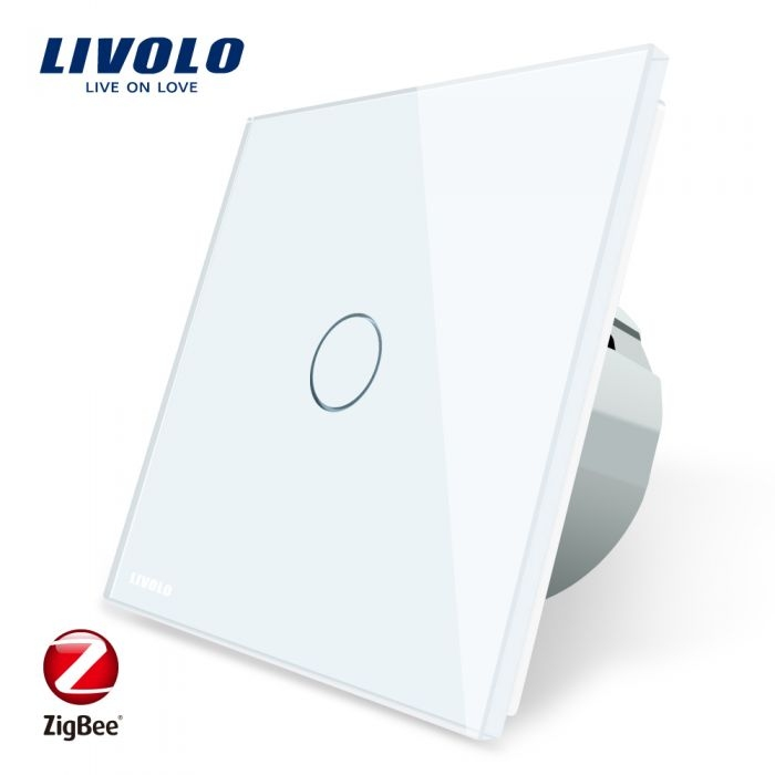 WiFi Сенсорный однолинейный выключатель Livolo ZigBee (белый) - 1