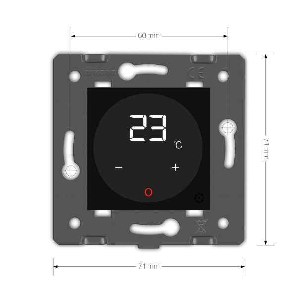 Терморегулятор  теплого пола черный с выносным датчиком температуры - 1