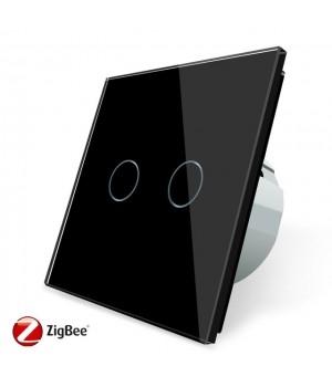 Сенсорный двухлинейный выключатель Livolo ZigBee (черный ) - 2