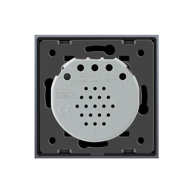 Выключатель двухлинейный (черный) - 2