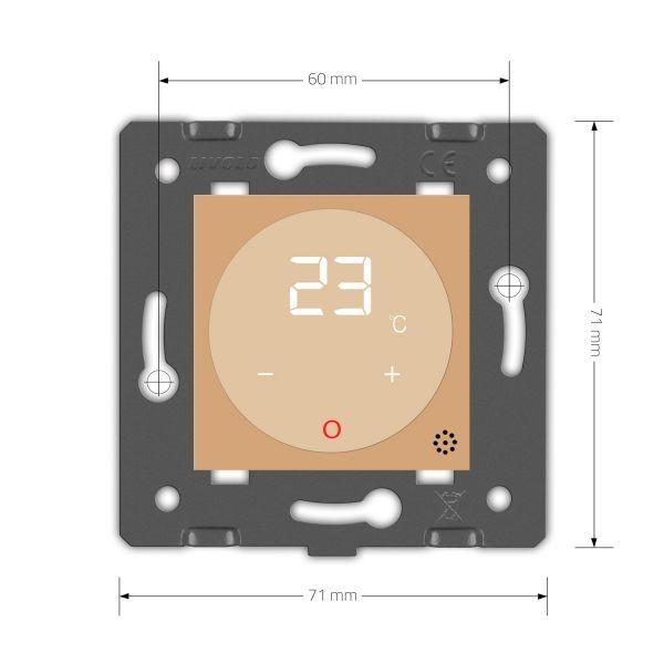 Терморегулятор  теплого пола  с выносным датчиком температуры - 1